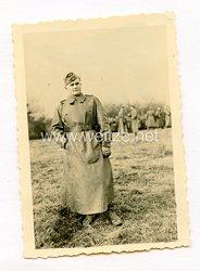 Wehrmacht Foto, Offizier Im Kradmantel