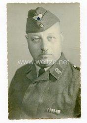 III. Reich Portraitfoto, Angehöriger des Luftschutz- Warndienst