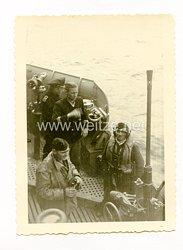 Kriegsmarine Foto Dienst auf der Brücke
