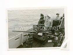 Kriegsmarine Foto, Übung am 2 cm Flakgeschütz