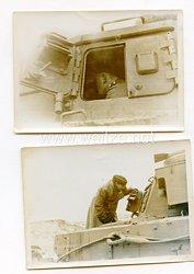 Wehrmacht Fotos einer Panzerturm - Luke