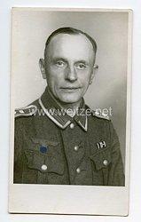 Wehrmacht Portraitfoto, Oberfeldwebel mit Bandspange