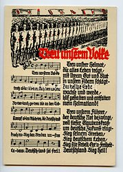 "III. Reich - farbige Propaganda-Postkarte - "" Treu unserm Volke - Turnertum im Lied """