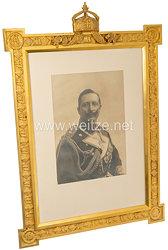 Kaiser Wilhelm II. - großer Geschenkbilderrahmen, um 1900.