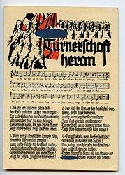 "III. Reich - farbige Propaganda-Postkarte - "" Turnerschaft heran - Turnertum im Lied """