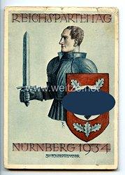 "III. Reich - farbige Propaganda-Postkarte - "" Reichsparteitag Nürnberg 1934 """