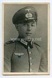 Wehrmacht Portraitfoto, Soldat mit Schirmmütze