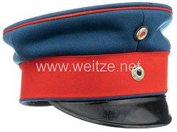 Königreich BayernSchirmmütze für einen Offizier der Infanterie