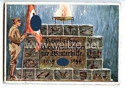 """III. Reich - farbige Propaganda-Postkarte - """" Bayrisches Beamtennotopfer zur Winterhilfe 1933-1934 """""""