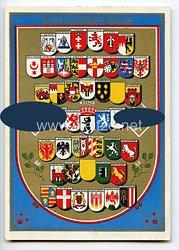 """III. Reich - farbige Propaganda-Postkarte - """" Die deutschen Gaue """""""