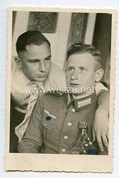Wehrmacht Foto, Soldat mit Verwundetenabzeichen in Schwarz 1939