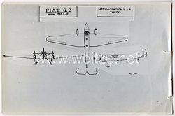 Italien Pressefoto einer Zeichnung von einer FIAT G2