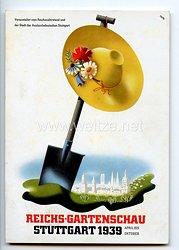 """III. Reich - farbige Propaganda-Postkarte - """" Reichs-Gartenschau Stuttgart 1939 April bis Oktober """""""
