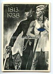 """III. Reich - Propaganda-Postkarte - """" Deutsches Turn- und Sportfest Breslau 1938 - 1813/1938 """""""