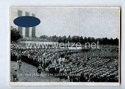 """III. Reich - Propaganda-Postkarte - """" Reichsparteitag 1933 Nürnberg NSDAP - SA-Aufmarsch im Luitpoldhain """""""