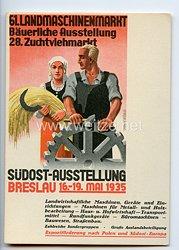 "III. Reich - farbige Propaganda-Postkarte - "" Südost-Ausstellung Breslau 16.-19. Mai 1935 """