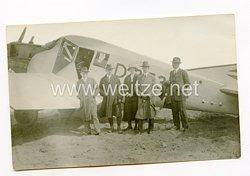 Weimarer Republik Junkers Zivil-Flugzeug und Passagiere
