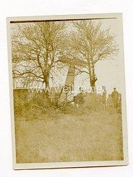 1. Weltkrieg Fliegertruppe, Foto einer abgestürzten Maschine