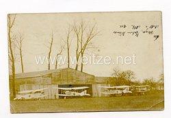 1. Weltkrieg Fliegertruppe, Fotopostkarte des Flugplatz der Artillerie Flieger Abteilung 211