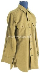 USA World War 2: US Army Winter Service Shirt for a Soldier of the 80th Division