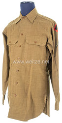 USA World War 2: US Army Winter Service Shirt for aPrivate First Class of the 43rd Infantry Division