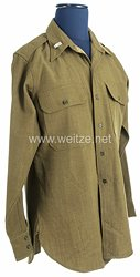 USA World War 2: US Army Winter Service Shirt for a First Lieutenant of the 82nd Airborne Division