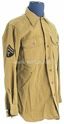 USA World War 2: US Army Winter Service Shirt for aTechnician Fifth Grade of 82nd Airborne Division