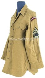 USA World War 2: US Army Winter Service Shirt for a Technical Sergeant of the 5th Ranger Battalion