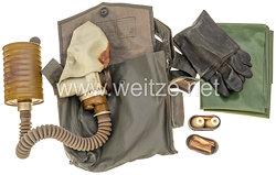 Deutsche Demokratische Republik ( DDR ) Nationale Volksarmee ( NVA ) Gasmaskentasche mit Inhalt