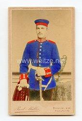 Preußen kleines Kabinettfoto eines Soldaten im 2. Garde-Dragoner-Regiment