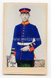 Preußen kleines Kabinettfoto eines Gefreiten im Garde-Grenadier-Regiment Nr. 5, II. Bataillon, 2. Kompanie