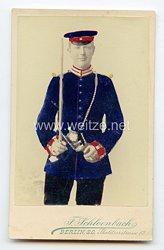 Preußen kleines Kabinettfoto eines Reservisten im 3. Garde-Regiment zu Fuß, II. Companie