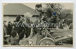 III. Reich Foto, Rudolf Heß begrüßt die Bevölkerung