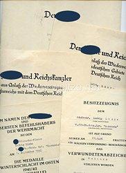 """Waffen-SS - Urkundengruppe für einen späteren SS-Unterscharführer der 9./SS-Pz.-Gren.-Rgt."""" Germania """""""