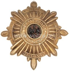 Preußen Stern für den Helm Mannschaften im Regiment Gardes du Corps, bzw. Garde-Kürassier-Regiment