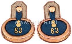 Preußen Paar Epauletten für einen Leutnant im 3. Rheinischen Feldartillerie-Regiment Nr. 83