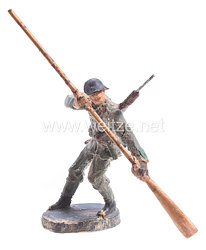 Elastolin - Schweiz Pionier stehend Backbord rudernd