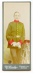 Preußen kleines Kabinettfoto eines Soldaten im Brandenburgischen Jäger-Bataillon Nr. 3