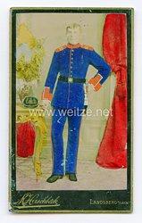 Bayern kleines Kabinettfoto eines Soldaten im 10. Infanterie-Regiment