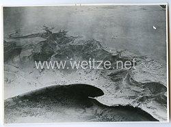 Königreich Italien Pressefoto: Luftaufnahme von der Schlacht um Sollum 1941