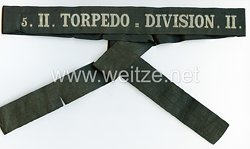 "Kaiserl. Marine Mützenband ""5.II.Torpedo= Division II.5. ""."