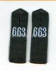 Hitlerjugend Flieger-HJ Paar Schulterklappen Bann 663