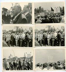 Bundesrepublik Deutschland ( BRD ) Fotos Willy Brandt bei einer IG Metall Kundgebung