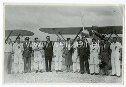 Königreich Italien Pressefoto: Piloten und Ihre Flugzeuge
