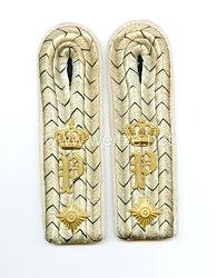 Oldenburg Paar Schulterstücke für einen Oberleutnant im Infanterie-Regiment Nr. 91
