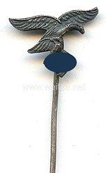 Deutsche Wehrmacht - Luftwaffe ( WL ) - Dienstnadel für Luftnachrichtenhelferinnen ( versilbert )