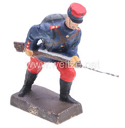 Lineol - 1. Weltkrieg Frankreich Soldat stürmend