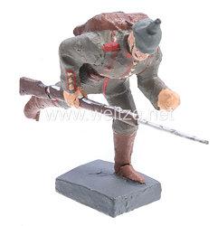 Lineol - 1. Weltkrieg Preussen Soldat mit Pickelhaube im Laufschritt