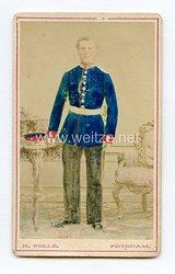 Preußen kleines Kabinettfoto eines Soldaten im 1. Garde-Regiment zu Fuß