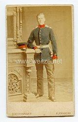 Preußen kleines Kabinettfoto eines Soldaten im Infanterie-Regiment von Manstein (Schleswigsches) Nr. 84